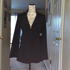 Sleek Black Vertigo Blazer